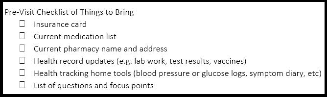 Doctor Visit Checklist